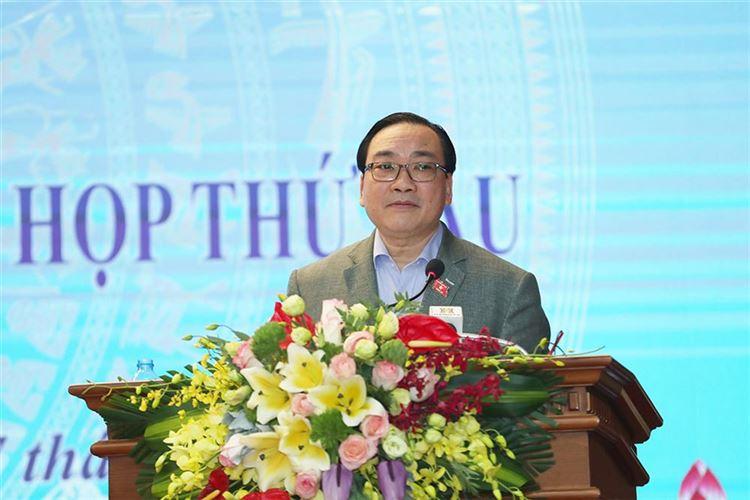 Đoàn đại biểu Quốc hội Tp Hà Nội tiếp xúc cử tri huyện Chương Mỹ báo cáo kết quả kỳ họp thứ 6 Quốc hội khóa XIV