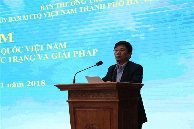 Tọa đàm Vai trò của Mặt trận Tổ quốc Việt Nam trong giai đoạn hiện nay - Thực trạng và giải pháp