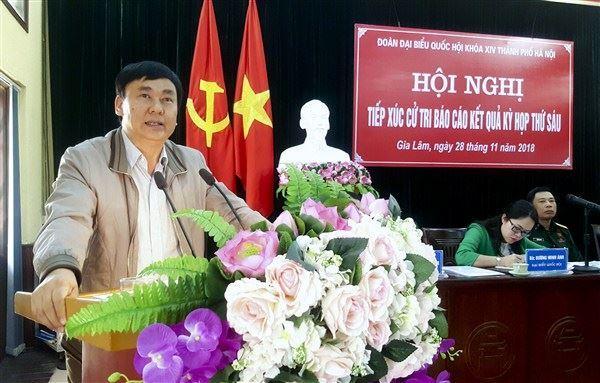 Hội nghị tiếp xúc cử tri huyện Gia Lâm sau kỳ họp thứ 6, Quốc hội khóa XIV.