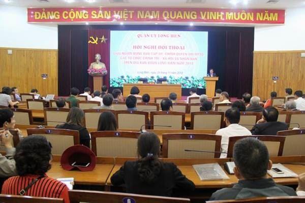 Quận Long Biên đối thoại trực tiếp với MTTQ, các đoàn thể chính trị - xã hội và Nhân dân
