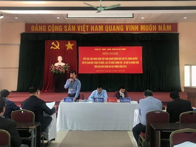 Quận Hai Bà Trưng tổ chức tiếp xúc đối thoại trực tiếp giữa người đứng đầu cấp ủy, chính quyền với MTTQ, các tổ chức chính trị - xã hội và nhân dân  trên địa bàn quận