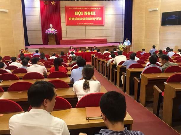 Đoàn đại biểu Quốc hội Thành phố Hà Nội tiếp xúc với cử tri huyện Sóc Sơn báo cáo kết quả kỳ họp thứ 6, Quốc hội khóa XIV
