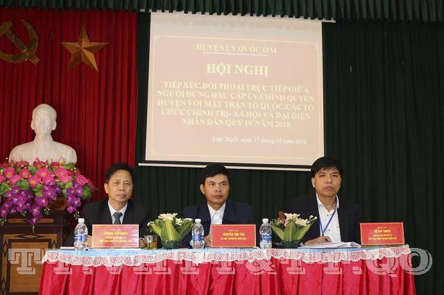 Huyện Quốc Oai đối thoại trực tiếp giữa người đứng đầu cấp ủy, chính quyền huyện với MTTQ, các tổ chức chính trị xã hội và đại diện Nhân dân