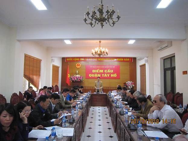 Tây Hồ tổ chức hội nghị Ủy ban MTTQ Việt Nam quận lần thứ 16, khóa V, nhiệm kỳ 2014-2019.