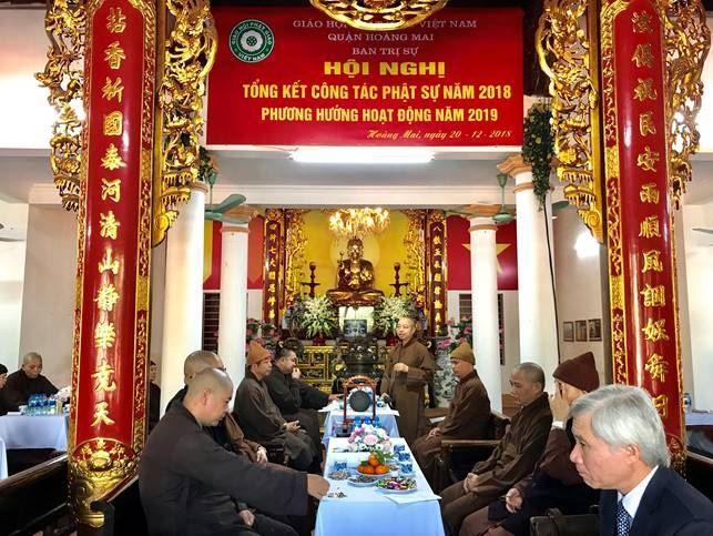 Ban Trị sự Giáo hội Phật giáo quận Hoàng Mai tổng kết công tác Phật sự năm 2018