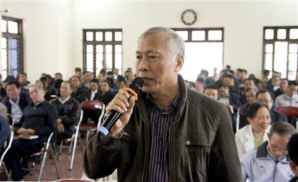 Gia Lâm tổ chức hội nghị tập huấn, quy trình lấy ý kiến về sự hài lòng của người dân đối với kết quả xây dựng nông thôn mới.