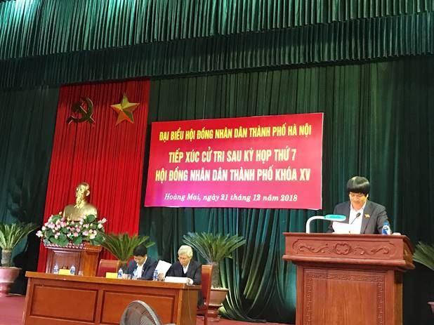 HĐND TP Hà Nội  tiếp xúc với cử tri quận Hoàng Mai sau kỳ họp thứ 7 HĐND TP Hà Nội khóa XV.
