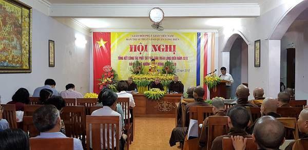 Ban trị sự Phật giáo quận Long Biên tổng kết công tác Phật sự năm 2018
