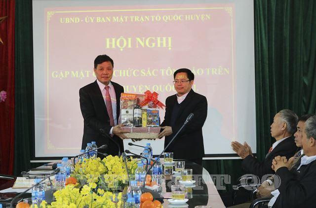 Huyện Quốc Oai gặp mặt các chức sắc tôn giáo nhân dịp Tết Nguyên đán Kỷ Hợi