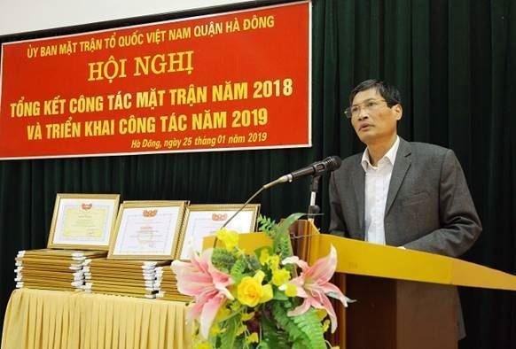 Chuẩn bị tốt các điều kiện để tổ chức thành công Đại hội MTTQ Việt Nam quận Hà Đông khóa XX, nhiệm kỳ 2019 - 2024