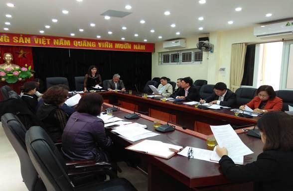 Ủy ban MTTQ Việt Nam quận Cầu Giấy họp thống nhất các nội dung tuyên truyền Đại hội.