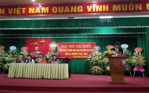 Huyện Ba Vì hoàn thành tổ chức Đại hội đại biểu MTTQ Việt Nam cấp xã nhiệm kỳ 2019 - 2024