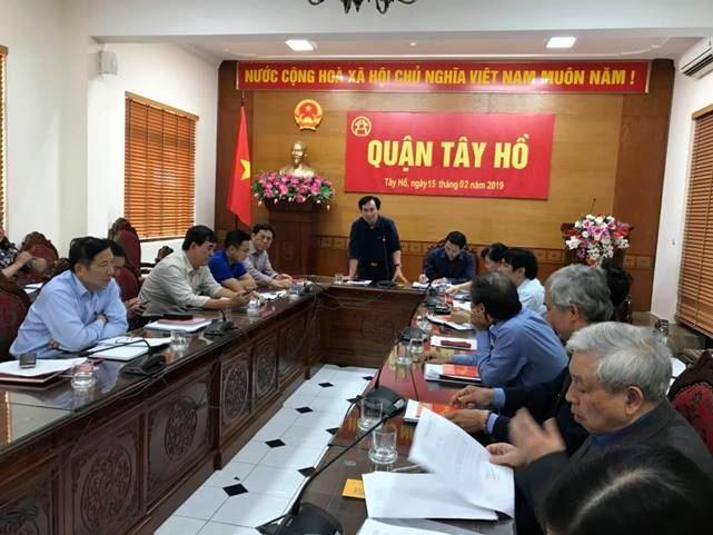 Quận Tây Hồ tổ chức hội nghị lấy ý kiến đóng góp vào Dự thảo Báo cáo Chính trị, Báo cáo kiểm điểm trình tại Đại hội đại biểu MTTQ Việt Nam quận