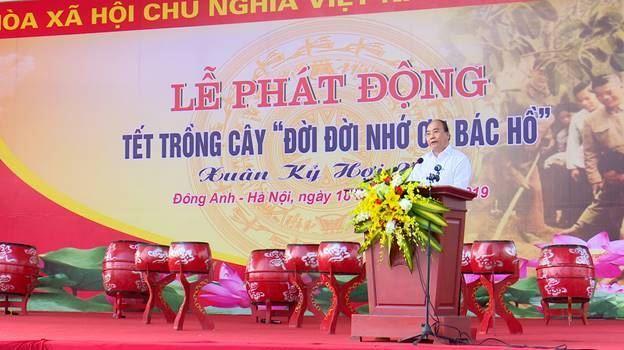 Đông Anh tổ chức Lễ phát động Tết trồng cây đời đời nhớ ơn Bác Hồ tại thôn Thượng Phúc xã Bắc Hồng