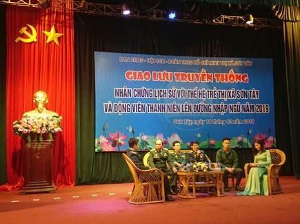 Sơn Tây tổ chức giao lưu truyền thống kỷ niệm 40 năm cuộc chiến đấu bảo vệ biên giới phía Bắc của Tổ quốc và gặp mặt thanh niên lên đường nhập ngũ năm 2019