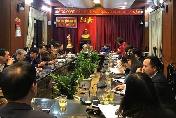 Ủy ban MTTQ Việt Nam huyện Sóc Sơn tổ chức giao ban công tác đầu năm 2019 với các xã, thị trấn