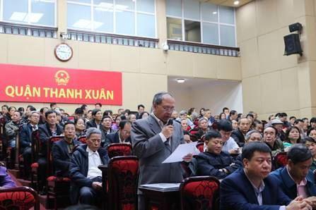 Quận Thanh Xuân tổ chức đối thoại trực tiếp giữa người đứng đầu cấp ủy, chính quyền với MTTQ và các đoàn thể Chính trị - xã hội và nhân dân trên địa bàn quận.