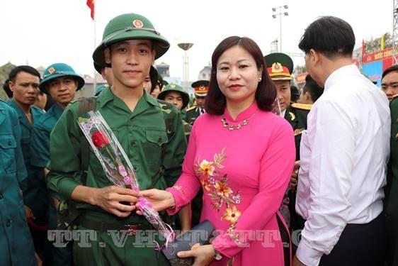 Huyện Quốc Oai tưng bừng giao quân năm 2019