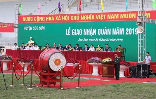 Huyện Sóc Sơn tổ chức Lễ giao nhận quân năm 2019