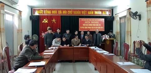 Ban đoàn kết Công giáo thị xã Sơn Tây ký kết giao ước thi đua năm 2019
