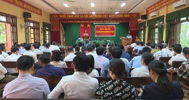 Đoàn đại biểu Quốc hội khóa XIV thành phố Hà Nội tiếp xúc với cử tri huyện Đông Anh trước kỳ họp thứ 7