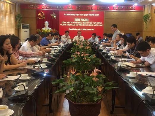 Quận Thanh Xuân tổng kết 10 năm thực hiện cuộc vận động Người Việt Nam ưu tiên dùng hàng Việt Nam