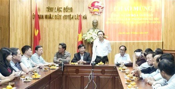 Lãnh đạo huyện Gia Lâm thăm và làm việc tại huyện Lâm Hà, huyện Đạ Huoai tỉnh Lâm Đồng