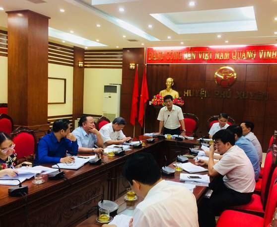 Đoàn công tác Ủy ban MTTQ Việt Nam TP kiểm tra công tác chuẩn bị Đại hội  MTTQ Việt Nam huyện Phú Xuyên lần thứ XVIII, nhiệm kỳ 2019-2024
