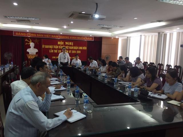 Hội nghị lần thứ XIV Ủy ban MTTQ Việt Nam quận Long Biên