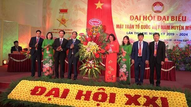 Đại hội đại biểu Mặt trận Tổ quốc Việt Nam huyện Mỹ Đức lần thứ XXI, nhiệm kỳ 2019-2024