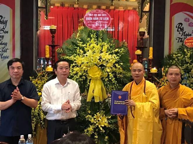 Ban Trị sự Giáo hội Phật giáo Việt Nam quận Nam Từ Liêm  Tổ chức Đại lễ Phật Đản  PL 2563-DL 2019
