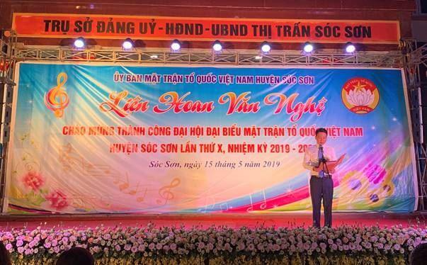 Huyện Sóc Sơn tổ chức đêm Liên hoan Văn nghệ Chào mừng thành công Đại hội Đại biểu MTTQ Việt Nam huyện lần thứ X, nhiệm kỳ 2019-2024