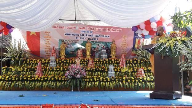 Huyện Ứng Hòa tổ chức lễ Phật đản Phật lịch 2563 - Dương lịch 2019  tại chùa Diên Phúc - xã Nội Xá