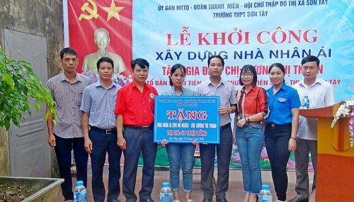 Sơn Tây khởi công xây dựng nhà ở cho hộ nghèo phường Viên Sơn.