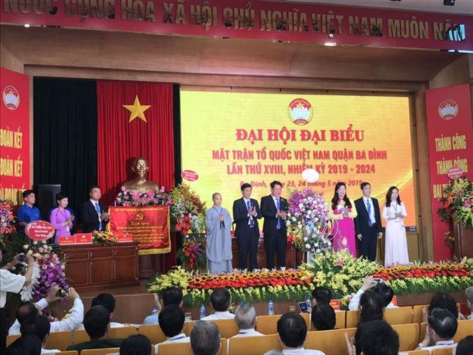Bầu 60 vị Ủy viên Ủy ban MTTQ Việt Nam quận Ba Đình khóa XVIII, nhiệm kỳ 2019-2024