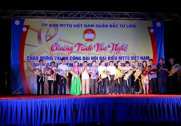 Liên hoan văn nghệ chào mừng thành công Đại hội đại biểu MTTQ Việt Nam quận Bắc Từ Liêm lần thứ II, nhiệm kỳ 2019 - 2024.
