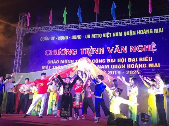 Chương trình văn nghệ chào mừng thành công Đại hội đại biểu MTTQ Việt Nam quận Hoàng Mai lần thứ IV, nhiệm kỳ 2019 - 2024