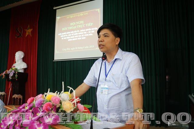 Huyện Quốc Oai tổ chức hội nghị đối thoại trực tiếp giữa người đứng đầu cấp ủy, chính quyền huyện với MTTQ, các tổ chức chính trị xã hội  và đại diện Nhân dân