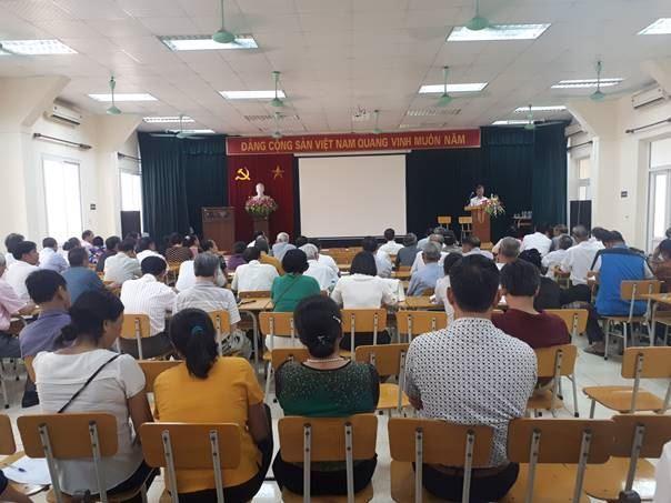 Hội nghị tuyên truyền Chỉ thị 05-CT/TW của Bộ chính trị về đẩy mạnh  học tập và làm theo tư tưởng, đạo đức và phong cách Hồ Chí Minh trong hệ thống MTTQ Việt Nam quận Nam Từ Liêm
