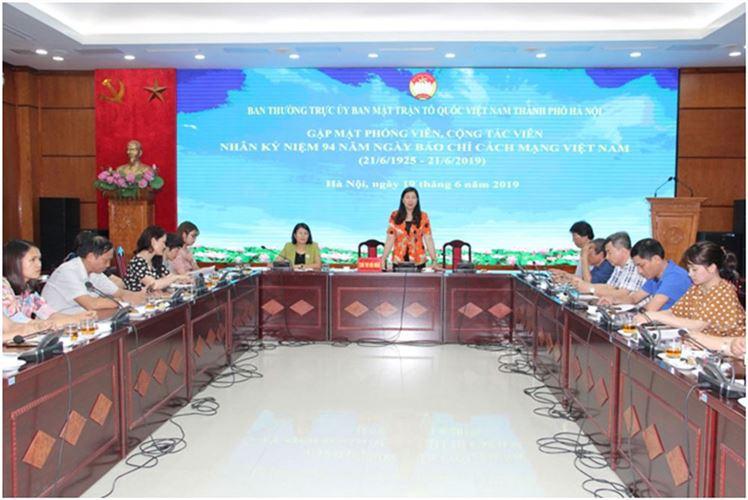 Báo chí đóng góp quan trọng vào thành công chung của Mặt trận  Thành phố Hà Nội