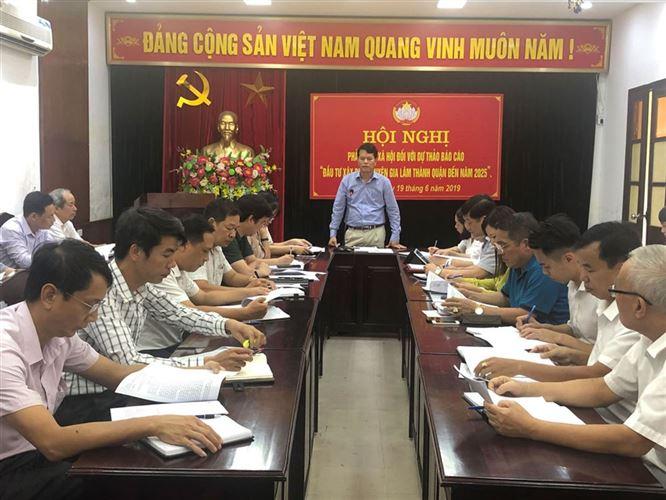 Ủy ban MTTQ Việt Nam huyện Gia Lâm tổ chức phản biện xã hội đối với  dự thảo Báo cáo đầu tư, xây dựng huyện Gia Lâm thành quận đến năm 2025