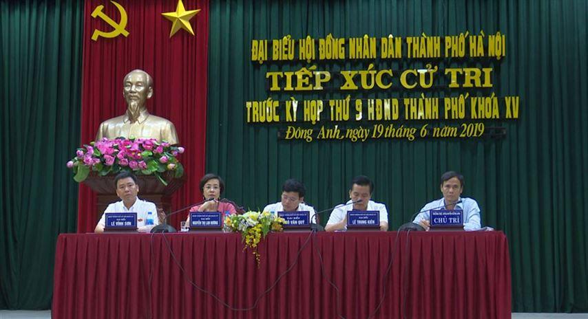 Đại biểu HĐND Thành phố Hà Nội tiếp xúc cử tri trước kỳ họp thứ 9  HĐND thành phố khóa XV