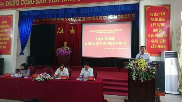 Hội nghị tiếp xúc giữa cử tri huyện Đan Phượng với đại biểu Quốc hội thành phố Hà Nội