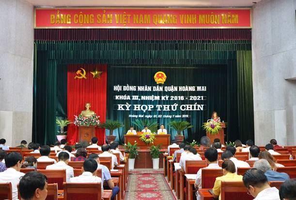 Ủy ban MTTQ Việt Nam quận Hoàng Mai thông báo xây dựng chính quyền tại kỳ họp thứ 9 HĐND quận Hoàng Mai
