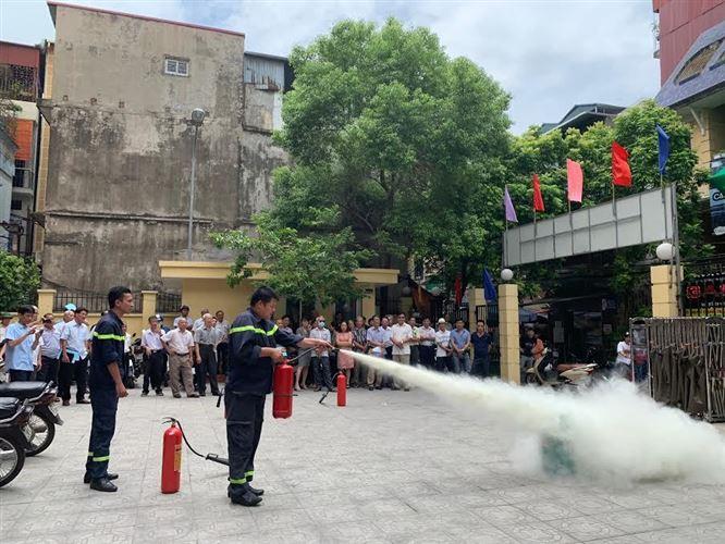 Ủy ban MTTQ Việt Nam quận Hai Bà Trưng tập huấn công tác tuyên truyền và nghiệp vụ về công tác phòng cháy chữa cháy năm 2019.