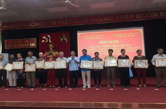 """Huyện Thanh Trì tổng kết và biểu dương gương """"Người tốt - việc tốt""""  trong đồng bào Công giáo giai đoạn 2015-2019"""