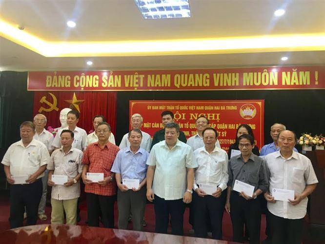 Ủy ban MTTQ Việt Nam quận Hai Bà Trưng tổ chức gặp mặt tặng quà tri ân cán bộ MTTQ các cấp của quận là Thương binh, gia đình Liệt sỹ nhân dịp kỷ niệm 72 năm ngày Thương binh, Liệt sỹ