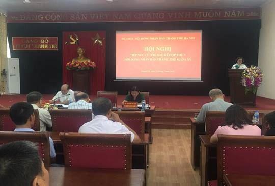 Tổ đại biểu HĐND TP tiếp xúc với cử tri huyện Thanh Trì  sau kỳ họp thứ 9, khóa XV