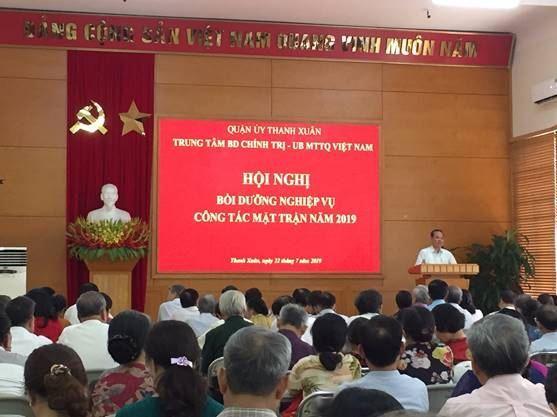 Ủy ban MTTQ quận Thanh Xuân tập huấn nghiệp vụ công tác Mặt trận năm 2019