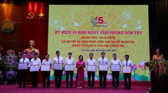 Sơn Tây tổ chức kỷ niệm 65 năm ngày giải phóng và sơ kết 3 năm thực hiện Chỉ thị 05-CT/TW của Bộ Chính trị.